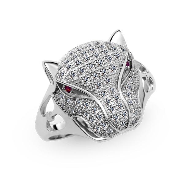 屬於豹的高傲璀鑽系列戒指