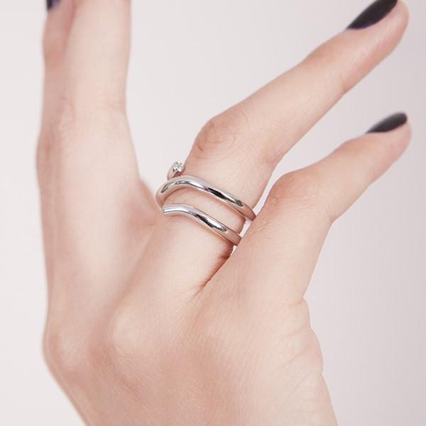 極簡線條活圍戒指