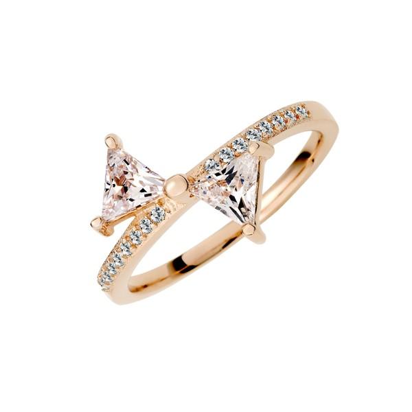 蝴蝶結造型閃亮戒指