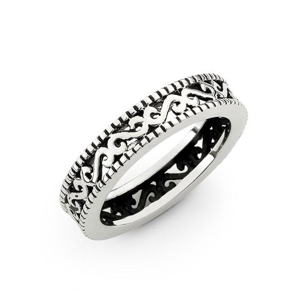 紋路染黑戒指