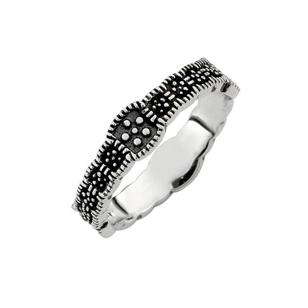 復古染黑戒指