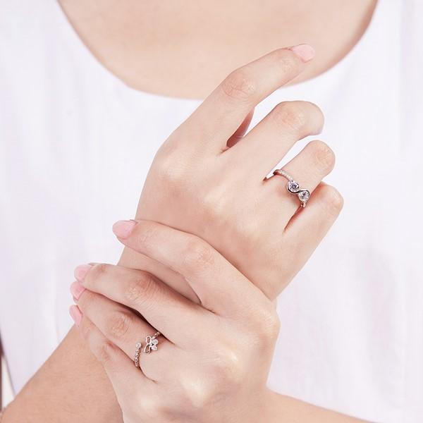 優雅蝴蝶結活圍戒指