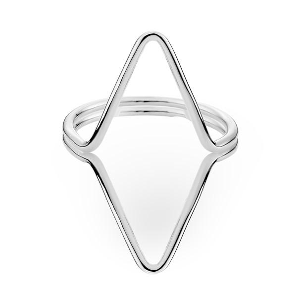 歐美幾何三角簡約戒指