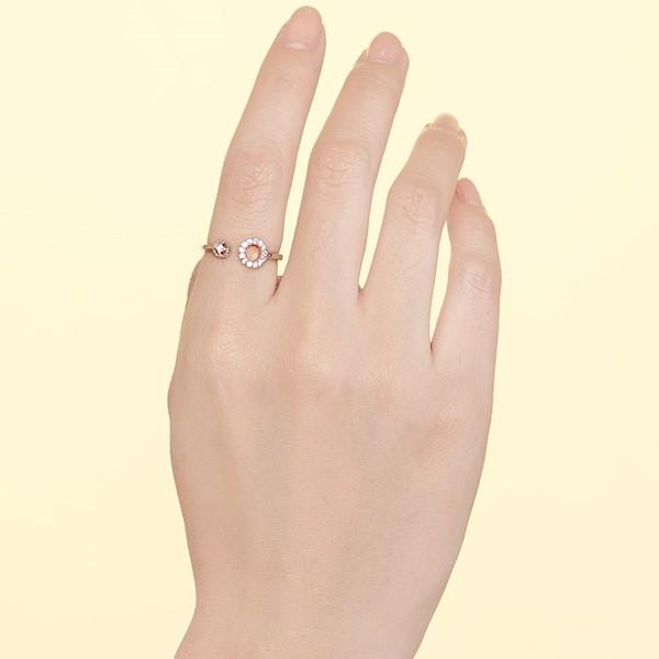 圓點之間活圍戒指