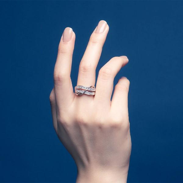 閃耀交錯璀鑽系列戒指