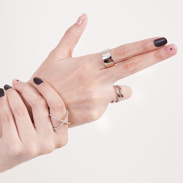 交叉歐美戒指
