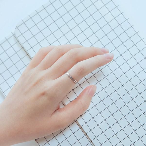 姊妹款專屬三環簡約戒指
