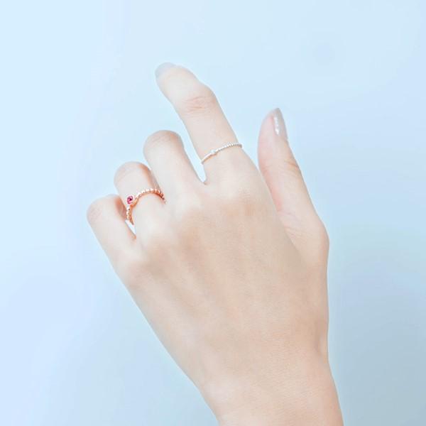 珠珠美鑽簡約戒指