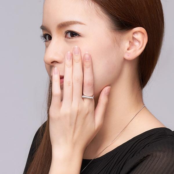 排鑽設計款純銀戒指