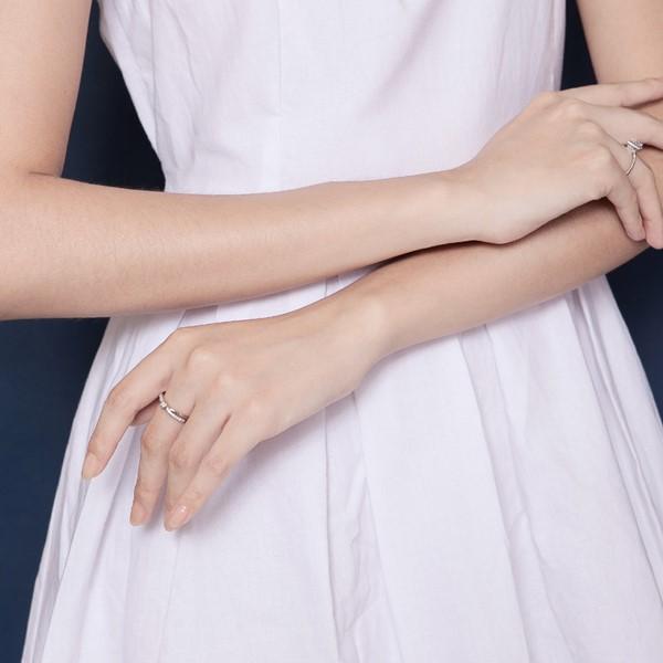 交叉雙線奢華戒指
