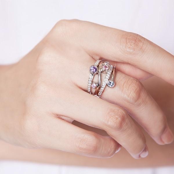 彩色遊樂園璀鑽首飾戒指