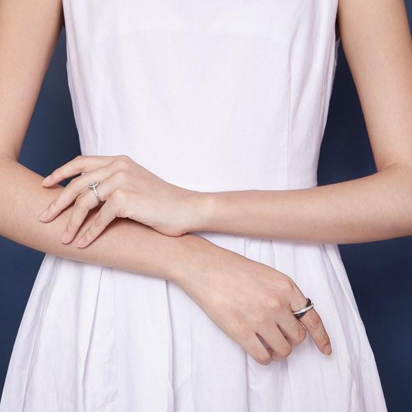 氣質雙色璀鑽系列戒指