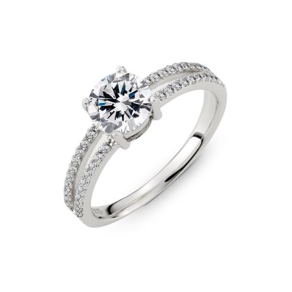 主鑽純銀戒指