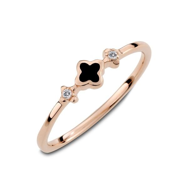 細緻花朵簡約姊妹戒指