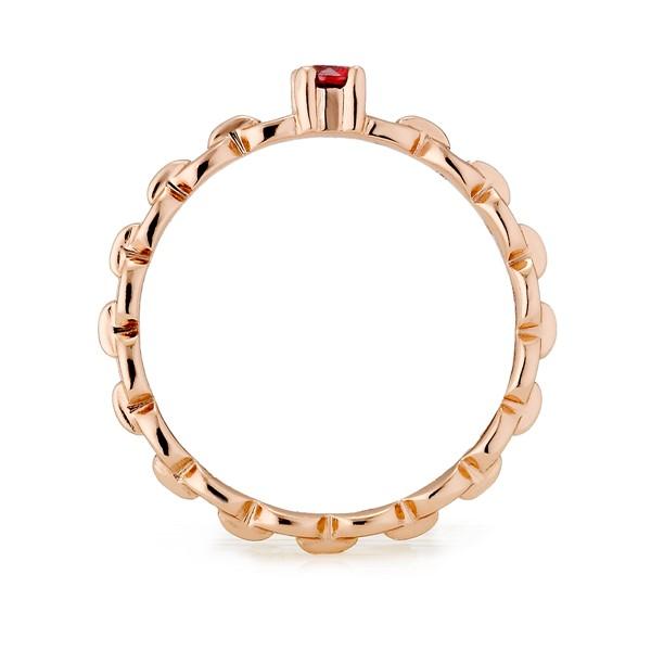 鎖鏈款式彩鑽戒指
