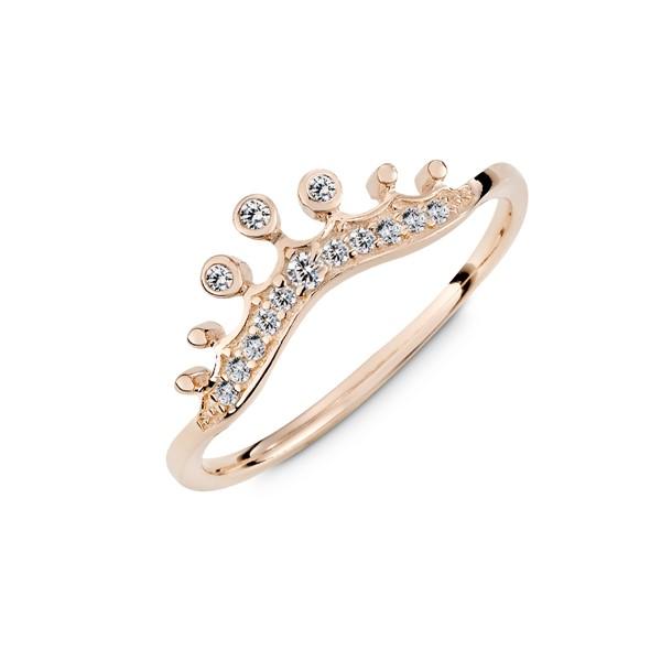 皇冠果實淑女彩鑽戒指