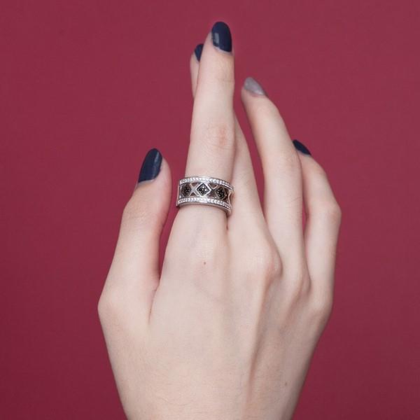 幾何菱形奢華戒指