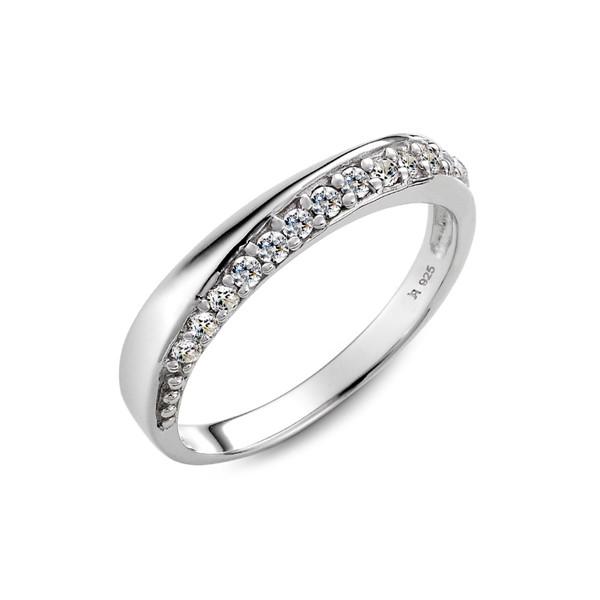 碎鑽純銀戒指