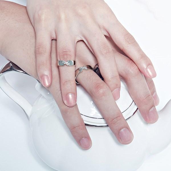 銀色舞曲滿鑽戒指