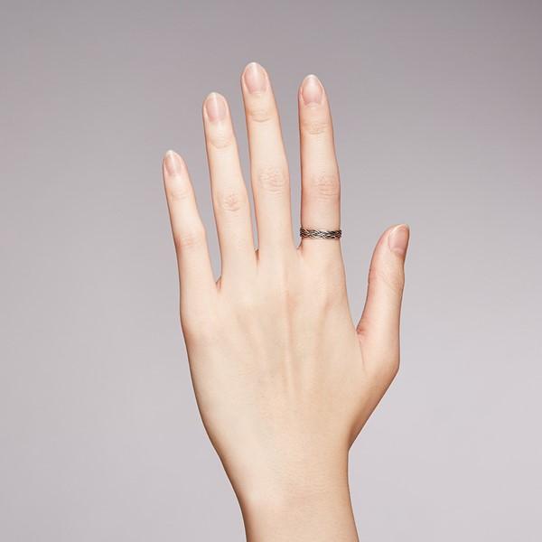 姊妹款麻繩個性麻花戒指