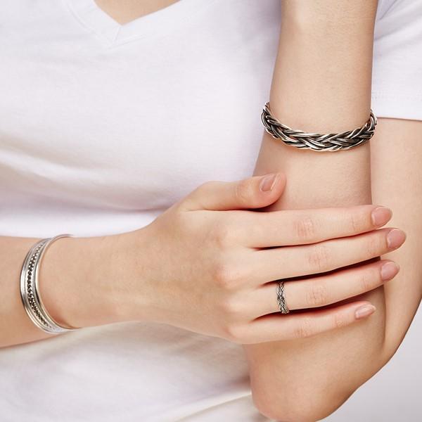 姊妹款率性蛇紋麻花戒指