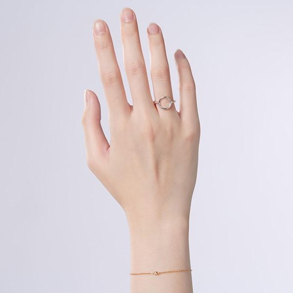 姊妹款時光之洞簡約戒指