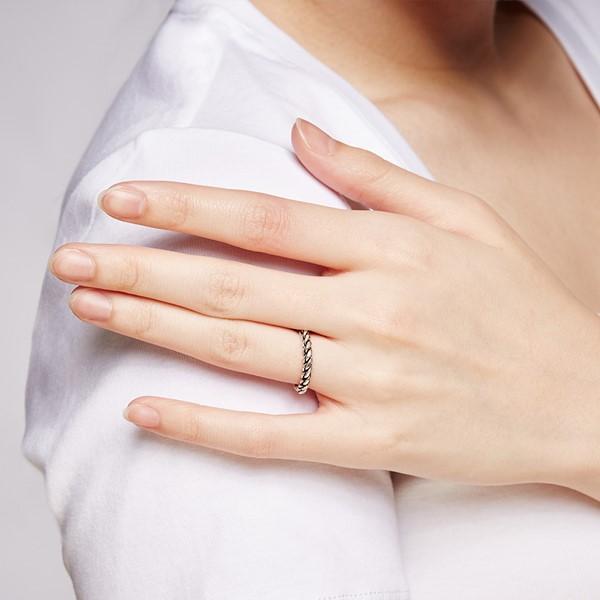 姊妹款個性麻花戒指