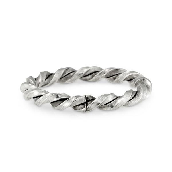 姊妹款扭轉繩結麻花戒指