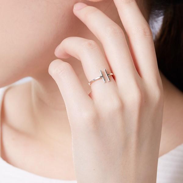 姊妹款平行線型簡約戒指
