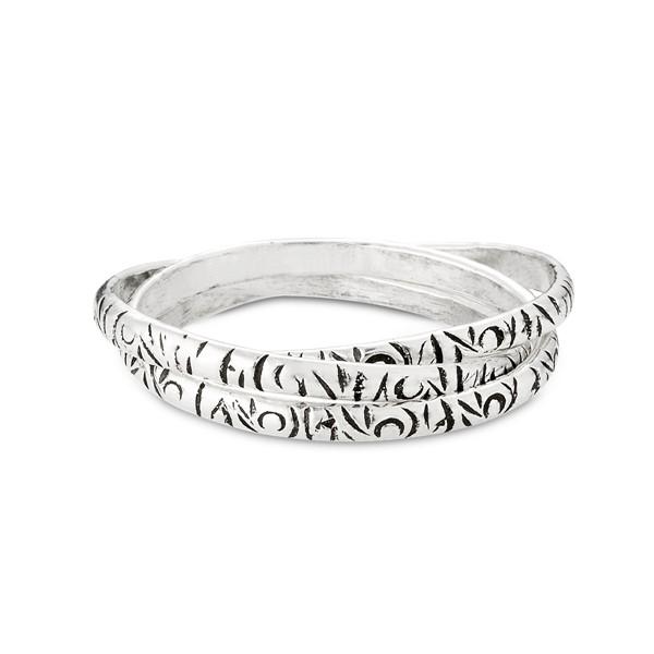 率性圖騰三環純銀戒指
