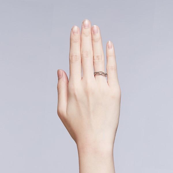 環繞麻花戒指