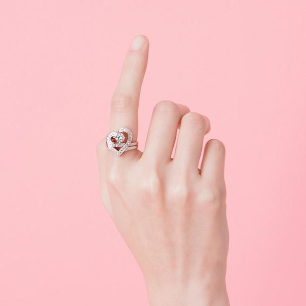 愛情圓舞曲心型組合戒指