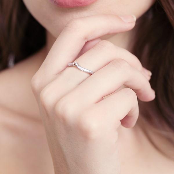 神所預定 夏娃/線鑽款純銀情侶對戒-女