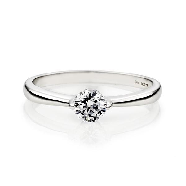白月光單鑽戒指