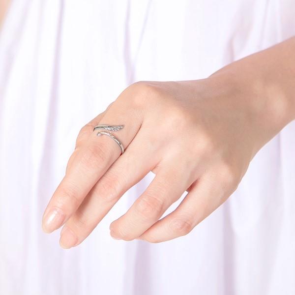 愛心逆風飛翔活圍純銀戒指