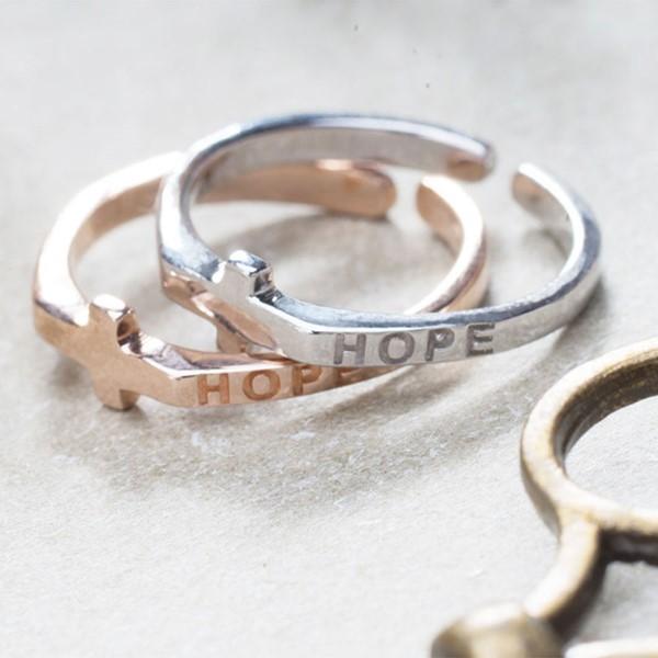 甜蜜希望十字架活圍戒指
