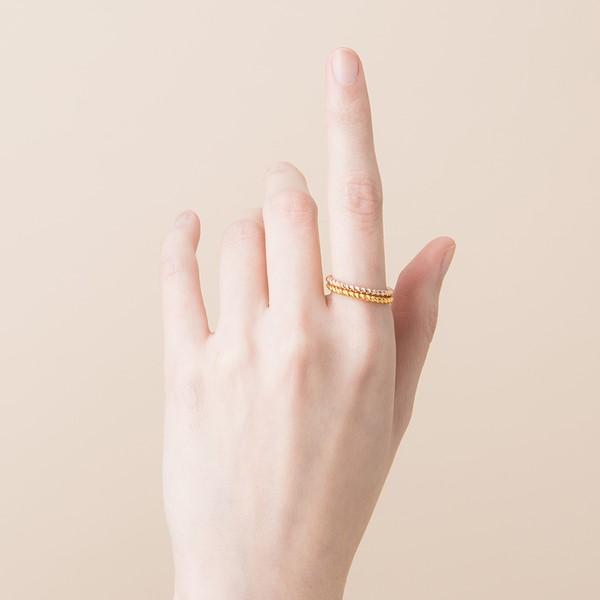 姊妹款編織麻花戒指/線戒