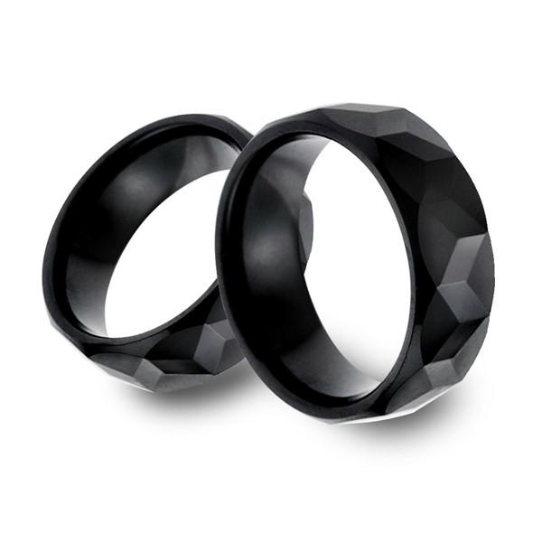 經典黑色龜面寬版戒指