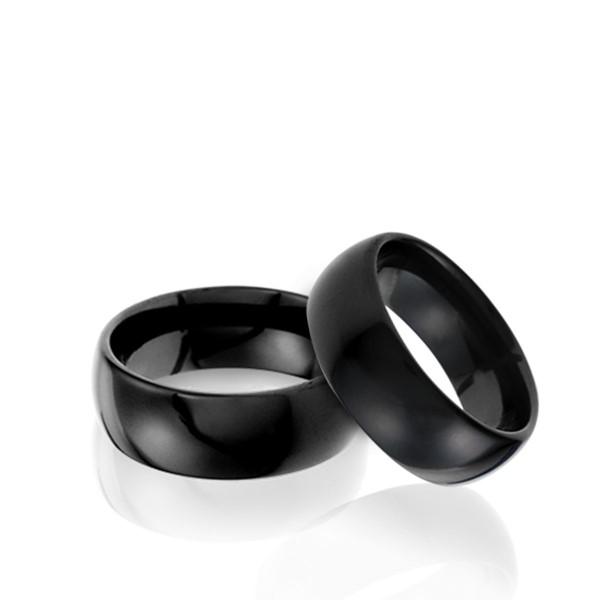 經典黑色依戀寬版戒指