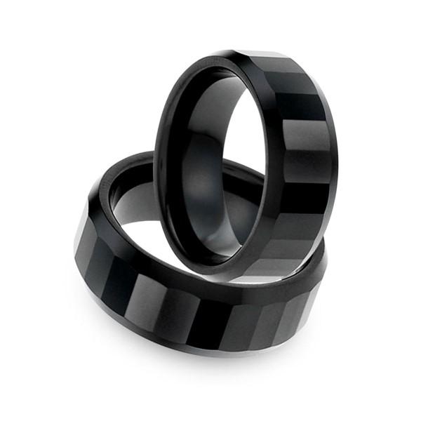 經典摩登格紋線條寬版戒指