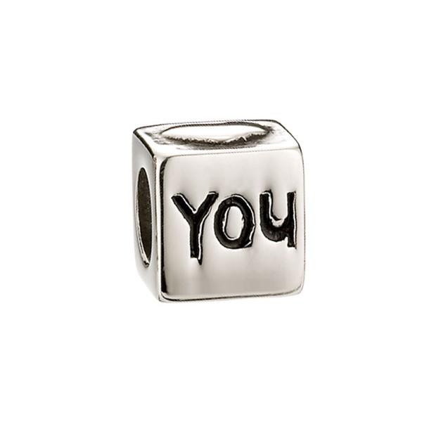 愛你骰子造型墜飾