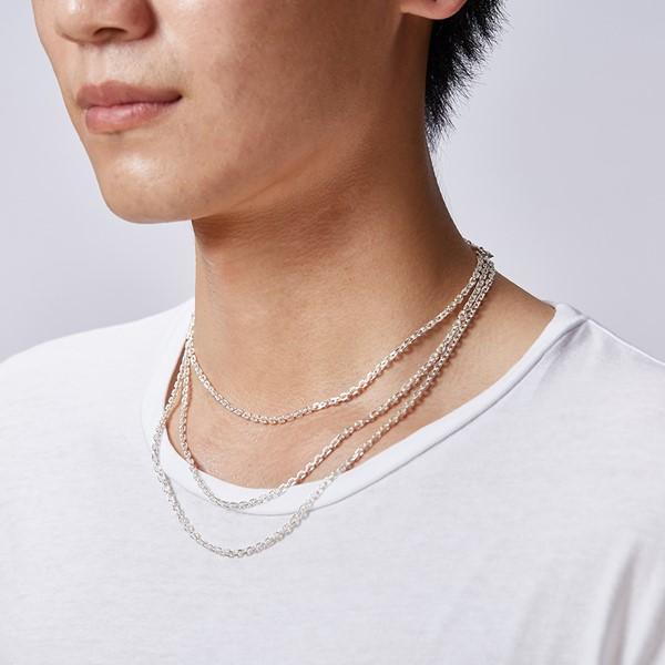純銀批角鍊|0.38cm