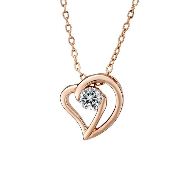愛心纏繞八心八箭單鑽鍍K金項鍊