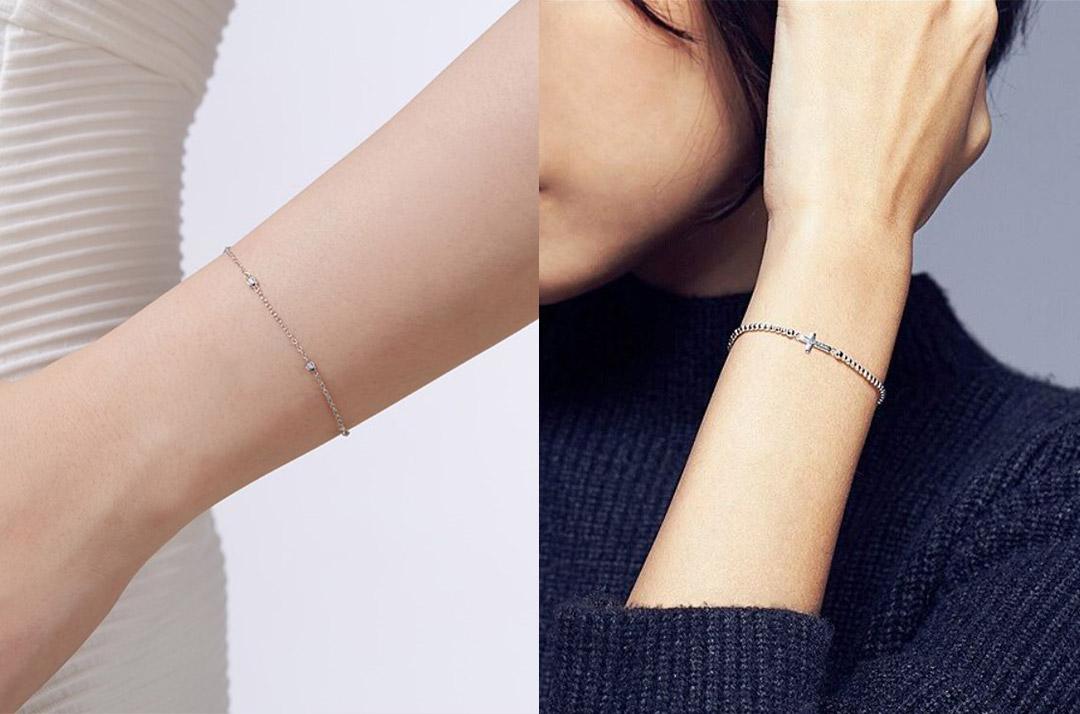 手腕較細的人適合小巧可愛細手鍊細緻的窄版手環,都能讓你顯得更有氣質。