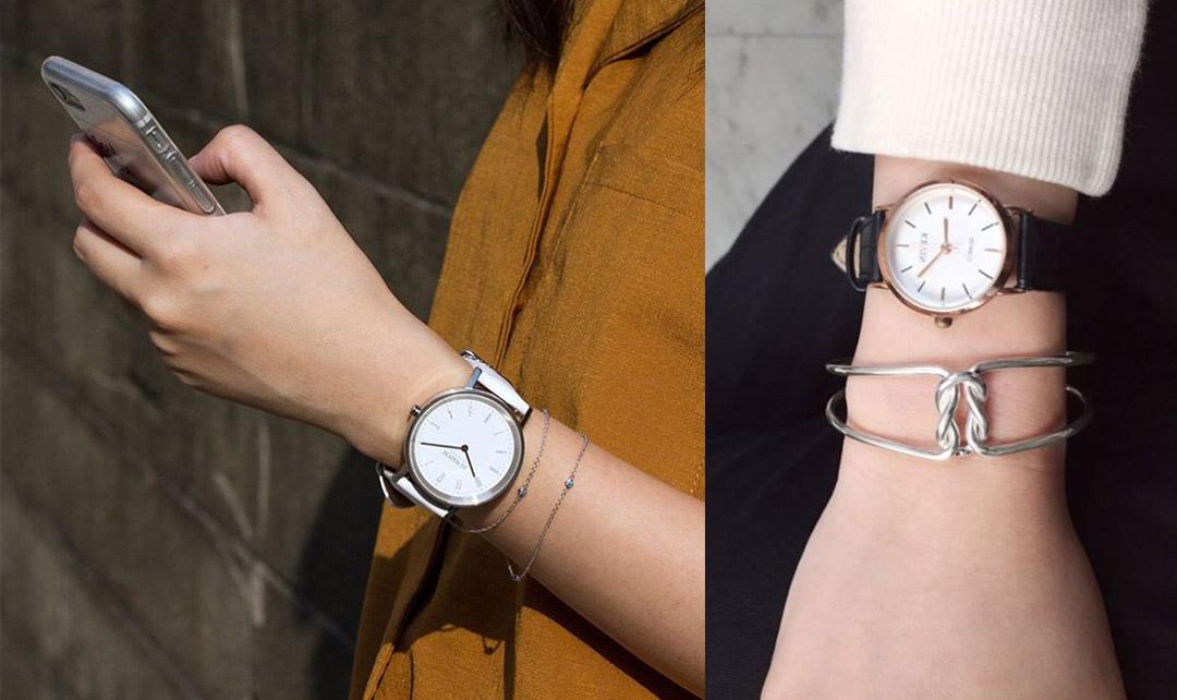 讓實用性質的手錶加上深具設計風格的手鍊,完整呈現個人知性的美感。