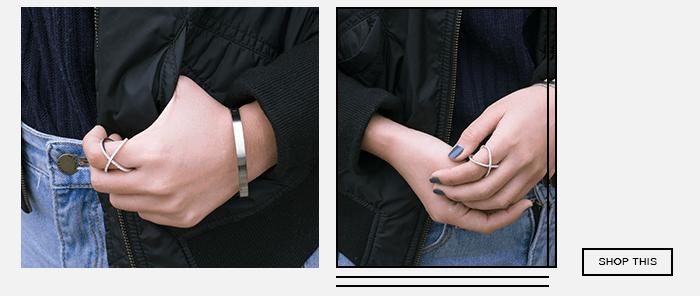 西德鋼手環純銀戒指