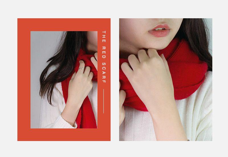 聖誕紅色圍巾
