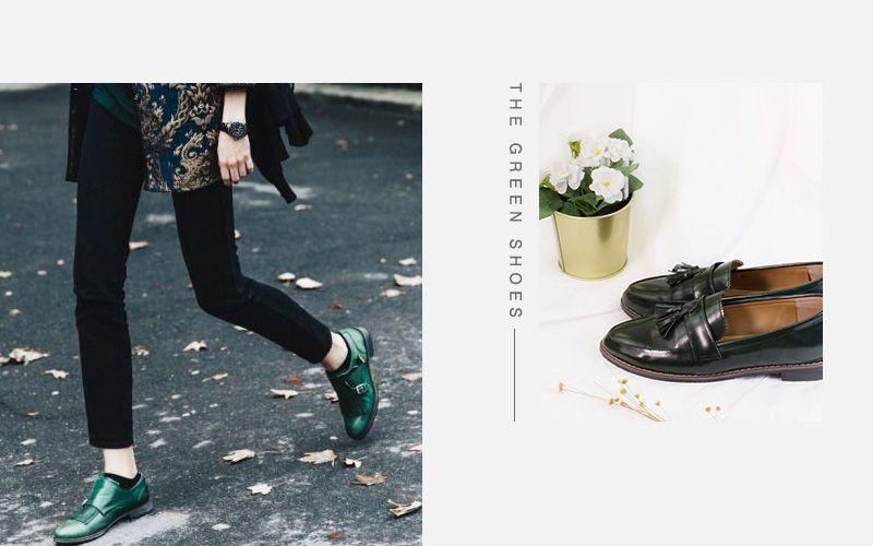 聖誕綠色樂福鞋
